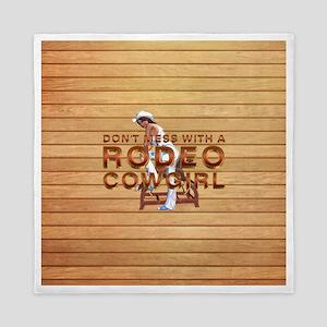 Rodeo Cowgirl Humor Queen Duvet