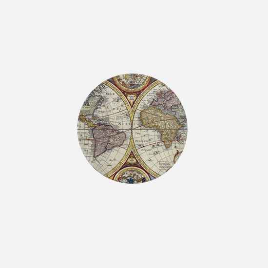 Unique Vintage map Mini Button