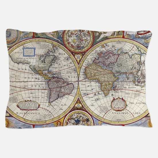 Funny Old map Pillow Case