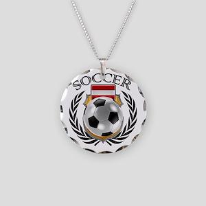 Austria Soccer Fan Necklace Circle Charm