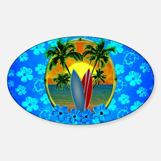 Sunset And Surfboards Decal