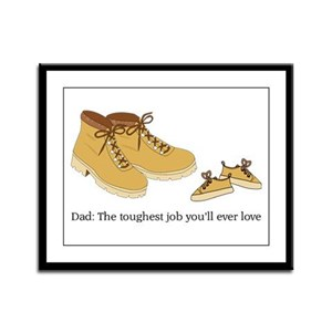 For Daddy Framed Panel Print