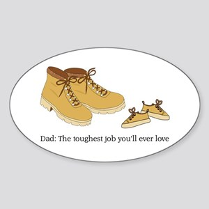 For Daddy Oval Sticker