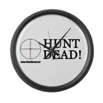 Hunt Dead Large Wall Clock