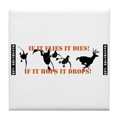 Flies It Dies, Hops It Drops Tile Coaster