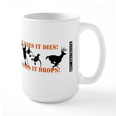Flies It Dies, Hops It Drops Mugs