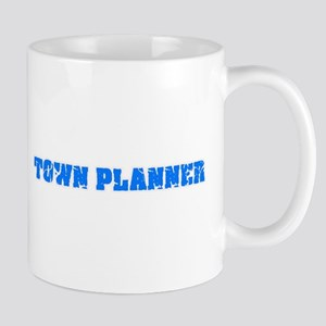 Town Planner Blue Bold Design Mugs