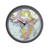 Africa map Wall Clocks