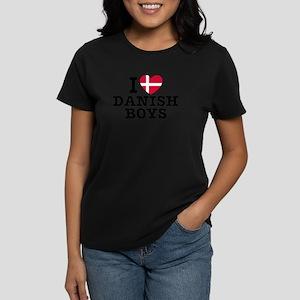 I Love Danish Boys Women's Dark T-Shirt