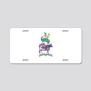 Love The Animals Aluminum License Plate