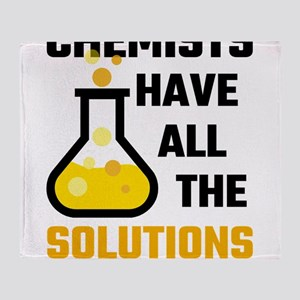 Chemists Have All The Solutions Throw Blanket