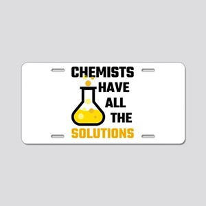 Chemists Have All The Solut Aluminum License Plate