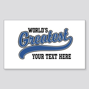 World's greatest Personalized Sticker (Rectangle)