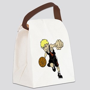 BASKET BOY ORANGE RIBBON Canvas Lunch Bag