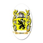 Poliet 35x21 Oval Wall Decal