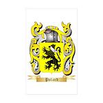 Poliard Sticker (Rectangle 50 pk)