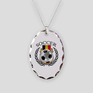 Belgium Soccer Fan Necklace Oval Charm