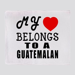 I Love Guatemalan Throw Blanket