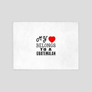 I Love Guatemalan 5'x7'Area Rug