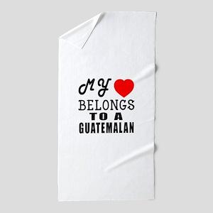 I Love Guatemalan Beach Towel