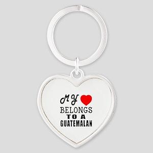 I Love Guatemalan Heart Keychain