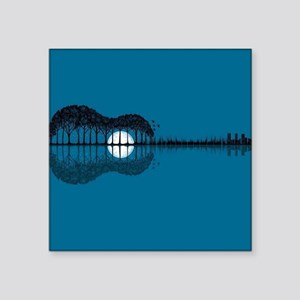 Trees sea and the moon turned guitar Sticker