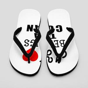 I Love Cuban Flip Flops