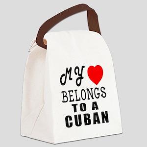 I Love Cuban Canvas Lunch Bag
