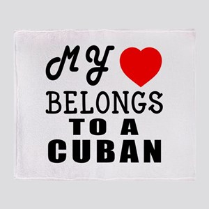 I Love Cuban Throw Blanket