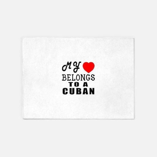 I Love Cuban 5'x7'Area Rug