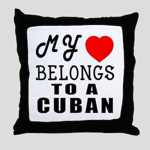 I Love Cuban Throw Pillow