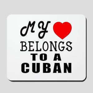 I Love Cuban Mousepad