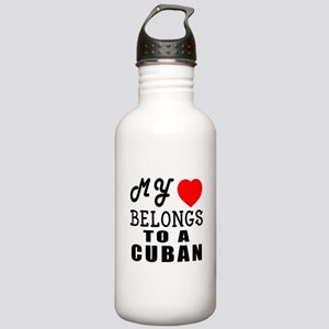 I Love Cuban Stainless Water Bottle 1.0L