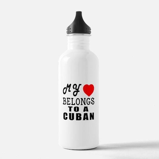 I Love Cuban Water Bottle