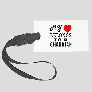 I Love Ghanaian Large Luggage Tag