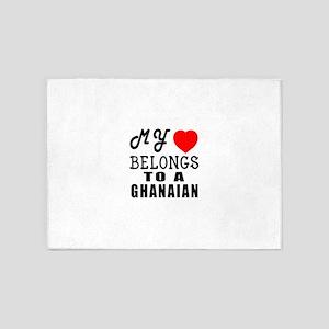 I Love Ghanaian 5'x7'Area Rug