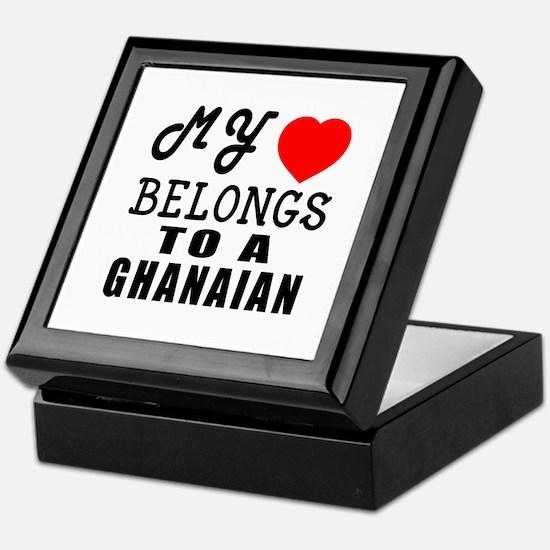I Love Ghanaian Keepsake Box