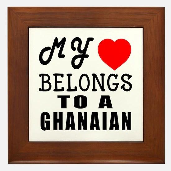 I Love Ghanaian Framed Tile
