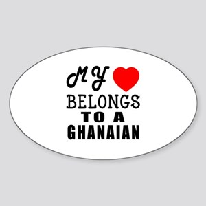 I Love Ghanaian Sticker (Oval)