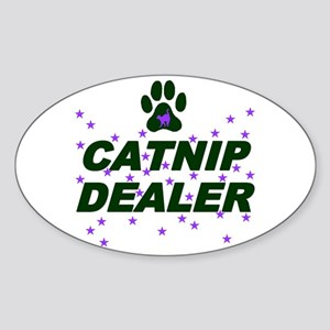 CATNIP DEALER Oval Sticker