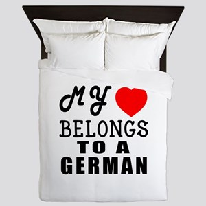 I Love German Queen Duvet
