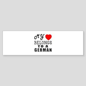 I Love German Sticker (Bumper)