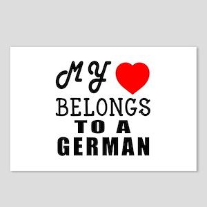 I Love German Postcards (Package of 8)