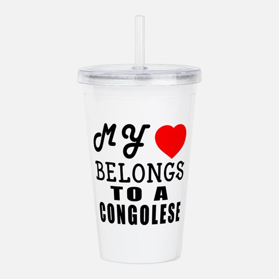I Love Congolese Acrylic Double-wall Tumbler