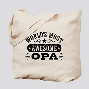 World's Most Awesome Opa Tote Bag