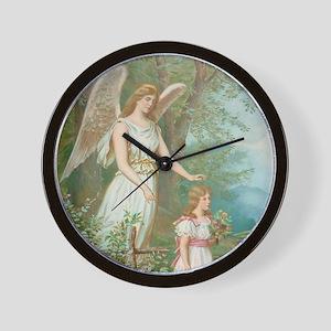 Vintage Guardian Angel Wall Clock