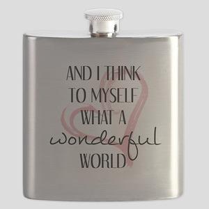WHAT A WONDERFUL WORLD Flask