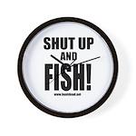 Shut Up And Fish_1 Wall Clock