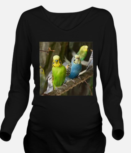Budgie Long Sleeve Maternity T-Shirt