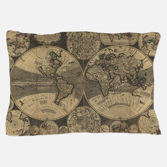 Cute Old map Pillow Case